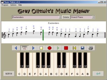 Special Needs Free Portable Program - Music Maker